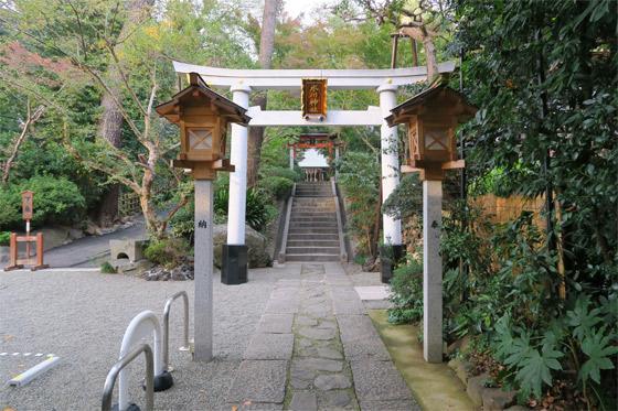東新町氷川神社の鳥居(東京都ときわ台駅)