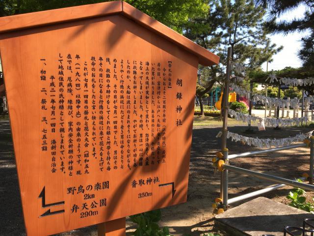 胡録神社の歴史