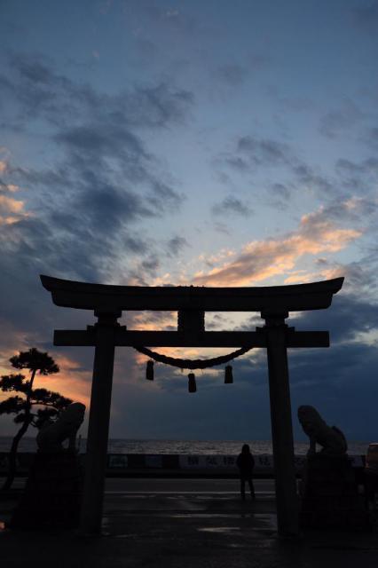 富山県諏訪神社の鳥居