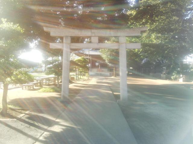 瓦葺氷川神社の鳥居