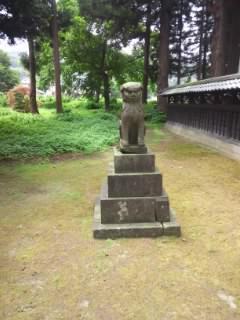 新潟県藤基神社の狛犬