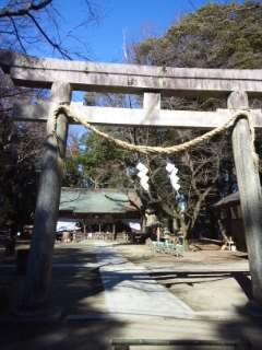 栃木県中村八幡宮の鳥居