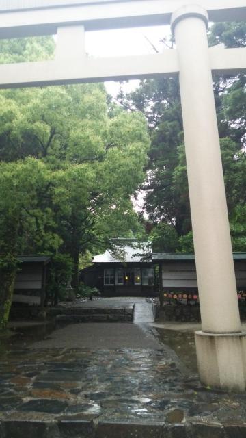鹿児島県益救神社の鳥居