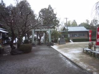福井県足羽神社の鳥居