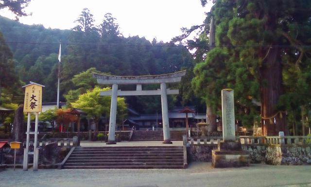 岐阜県飛騨一宮水無神社の鳥居