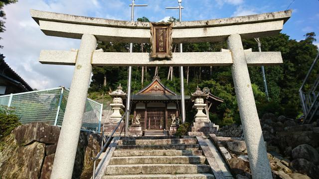 滋賀県多度神社の鳥居