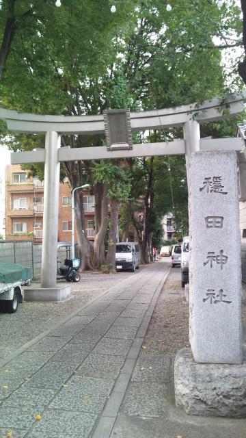 東京都穏田神社の鳥居