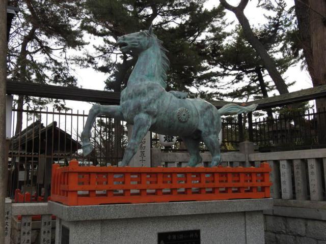阿部野神社の像
