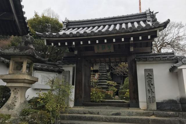 奈良県聖林寺の山門