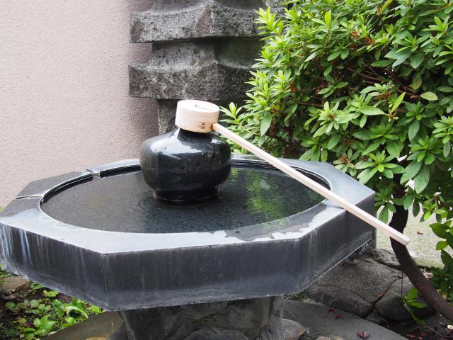 安養寺の手水