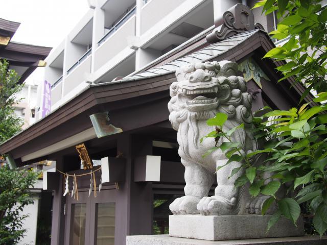 神楽坂若宮八幡神社の狛犬
