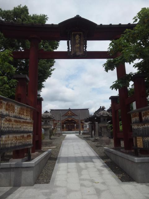 長野県武井神社の鳥居