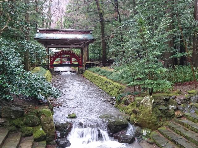 彌彦神社の庭園