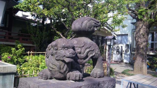 千住本氷川神社の狛犬