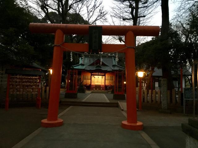 神奈川県村富神社の鳥居