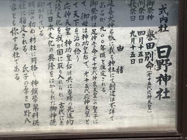 鳥取県日野神社の歴史