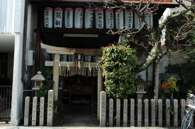 京都府松原道祖神社の鳥居