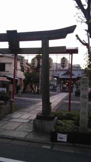 東京都高田氷川神社の鳥居