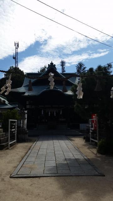 山口県椎尾八幡宮の本殿