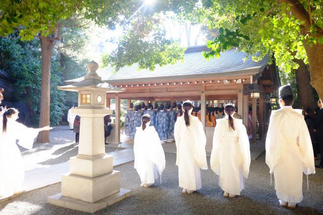 國學院大學神殿のお祭り