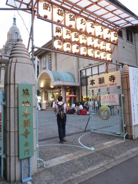 東京都築地本願寺(本願寺築地別院)の山門