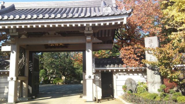 東京都龍雲寺の山門