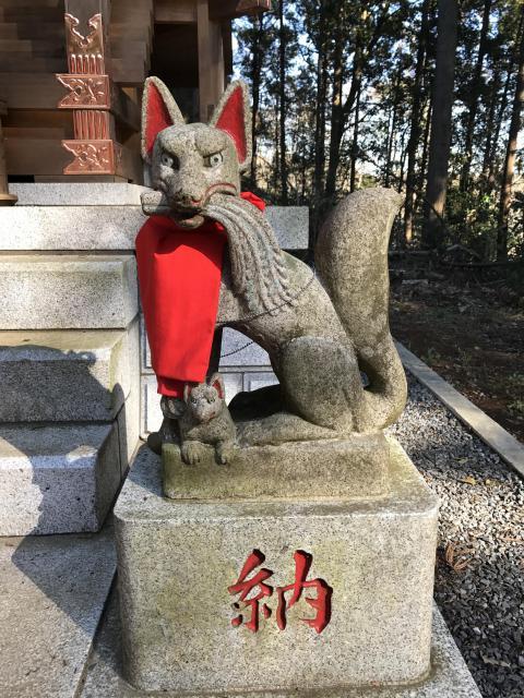 千葉県阿夫利神社の狛犬