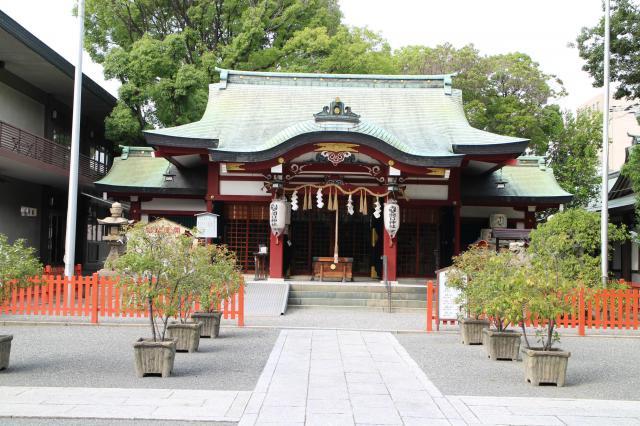 大阪府開口神社の本殿