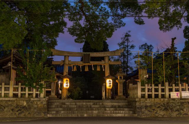 京都府新熊野神社の鳥居