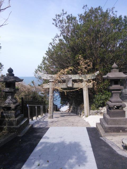 大分県粟嶋神社の鳥居