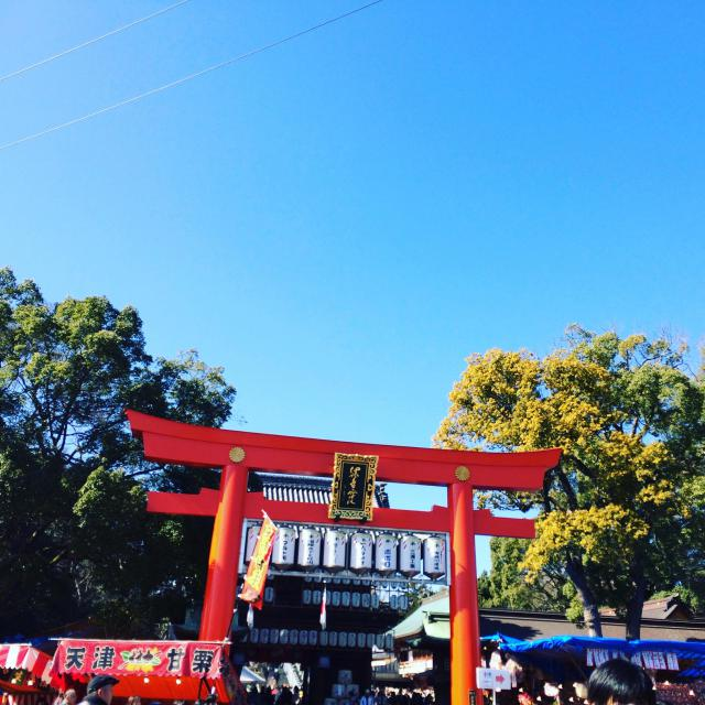 愛媛県伊豫豆比古命神社の鳥居