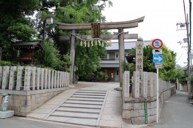 大阪府白山神社の鳥居