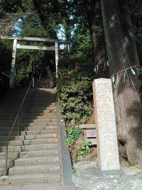 福岡県伊野天照皇大神宮の鳥居