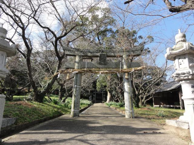 福岡県光岡八幡宮の鳥居