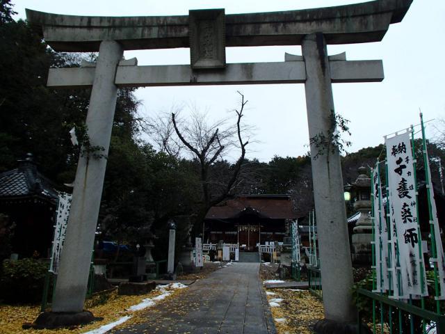 岐阜県手力雄神社の鳥居