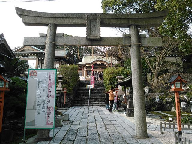福岡県到津八幡神社の鳥居