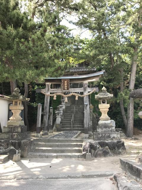 鳥取県荒砂神社の鳥居