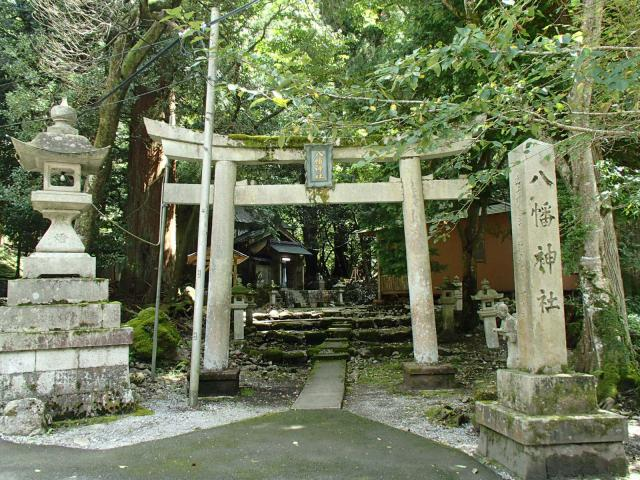 滋賀県八幡神社の鳥居