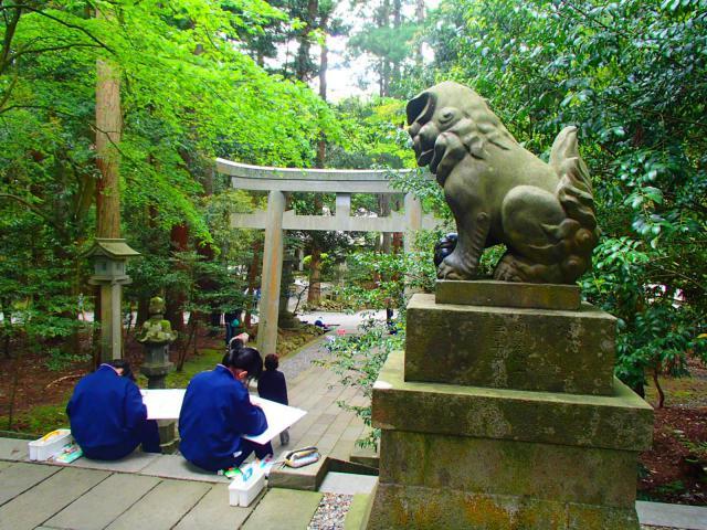 彌彦神社の狛犬