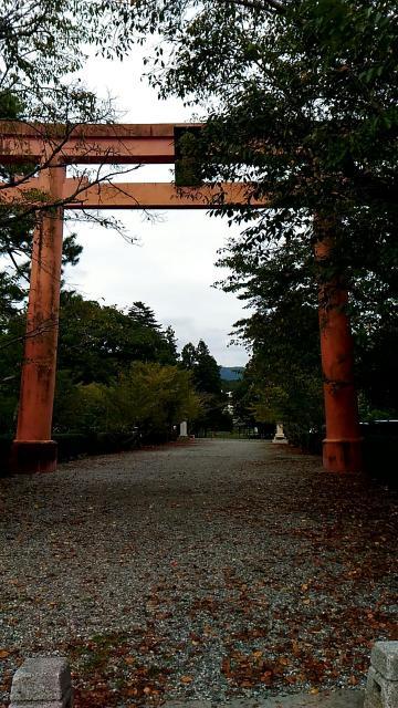 山口県八坂神社の鳥居