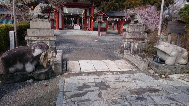 福島県大鏑矢神社の狛犬