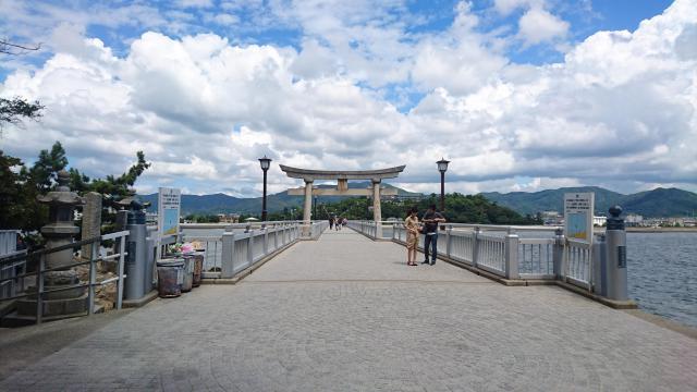 愛知県八百富神社の鳥居
