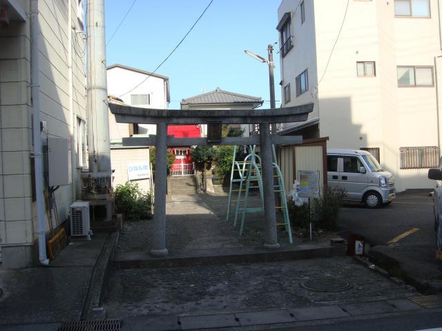 静岡県松山神社の鳥居