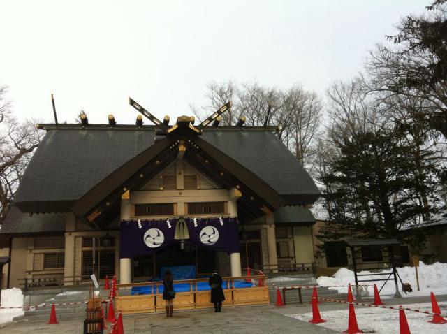帯廣神社の本殿