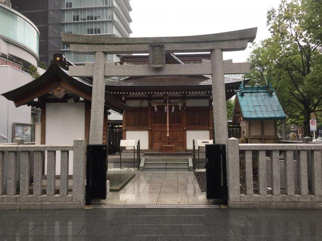 東京都浜町神社の鳥居
