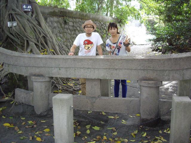 鹿児島県原五社神社の鳥居