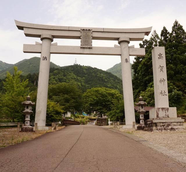 岐阜県高賀神社の鳥居