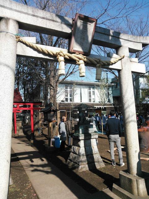 羽根木神社の鳥居