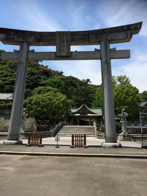 愛媛県和霊神社の鳥居