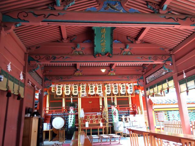 愛媛県伊佐爾波神社の本殿